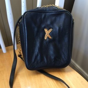 Paloma Picasso Navy Leather Crossbody Purse